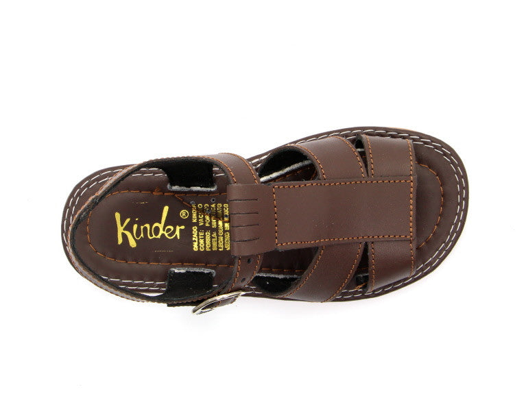 ee5afa0405a3e Kinder James 6002 Classic Brown Sandals – Shoes by Mom