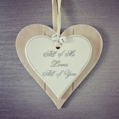 All of You Double Heart Plaque