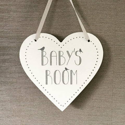 Baby's Room Heart Shape Sign