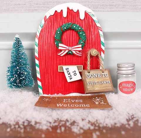 Christmas Little Elf Door & Accessories Gift Set