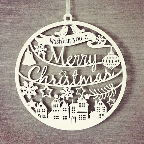 Merry Christmas Laser Cut Decoration