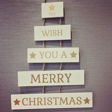 We Wish You a Merry Christmas Sign