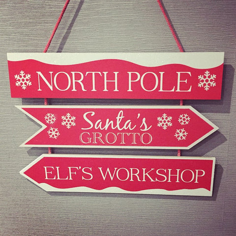 Santa's North Pole Sign