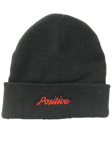 Positive Embroidered Beanie