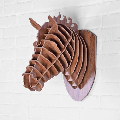 Wooden 3D Wall Hanging - Horse Style