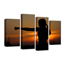 Karate 4 Pcs Canvas Set