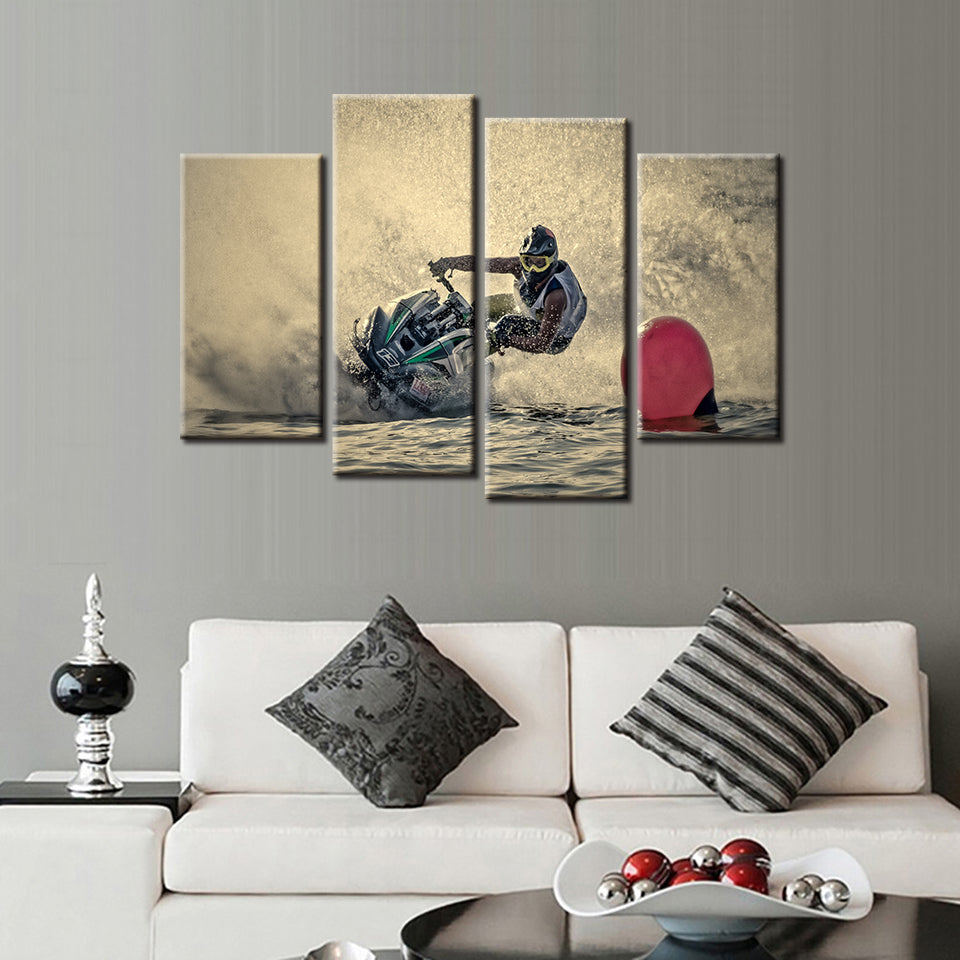 Jet Ski 4 Pcs Canvas Set