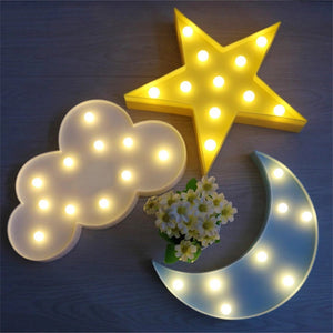 3D Led Light Lamp - Moon Style