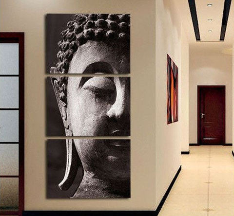 The Buddha Canvas 3 Pcs Wall Art