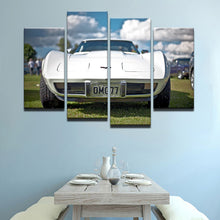 Classic Car 4 Pcs Canvas Wall Art