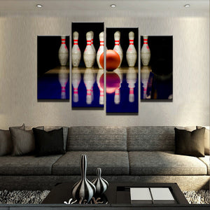 Bowling Canvas 4 Pcs Set