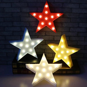 3D Led Light Lamp - Star Style