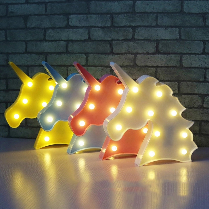 3D Led Light Lamp - Unicorn Head Style