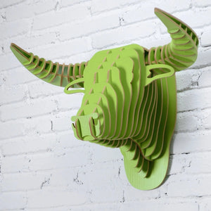 Wooden 3D Wall Hanging - Bull Style