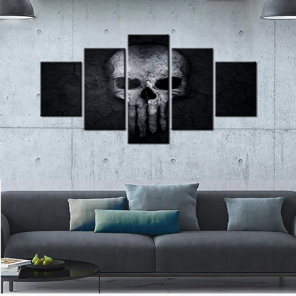 Demon Skull 5 Pieces Canvas Set