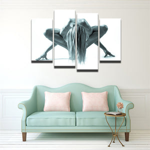 Yoga Pose Canvas 4 Pcs Wall Art