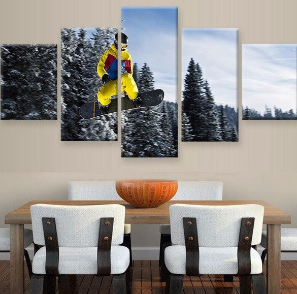 Snowboard 5 Pcs Canvas Set