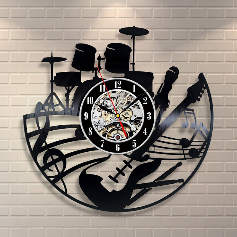 Vinyl Record Wall Clock - Music Band Style