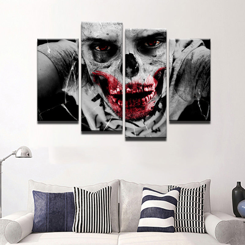 Zombie Canvas 4 Pcs Set