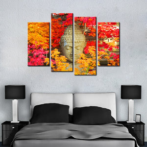 Real Buddha 4 Pcs Canvas Set