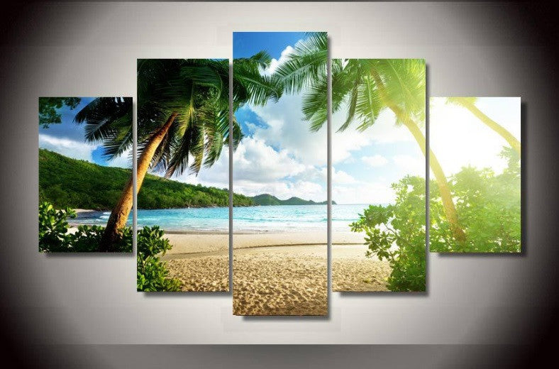 The Beautiful Islands Canvsa 5 Pcs Wall Art