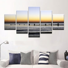 Silence Of The Ocean 5 Pcs Canvas Set
