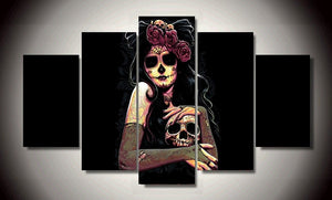 Skull Lady Canvas 5 Pcs Set