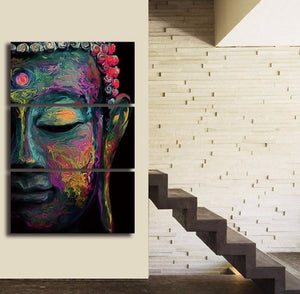 Relaxing Buddha Canvas 3 Pcs Wall Art