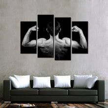 Bodybuilder Muscles 4 Pcs Canvas Set