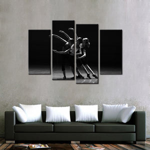 Ballet Trio 4 Pcs Canvas Set