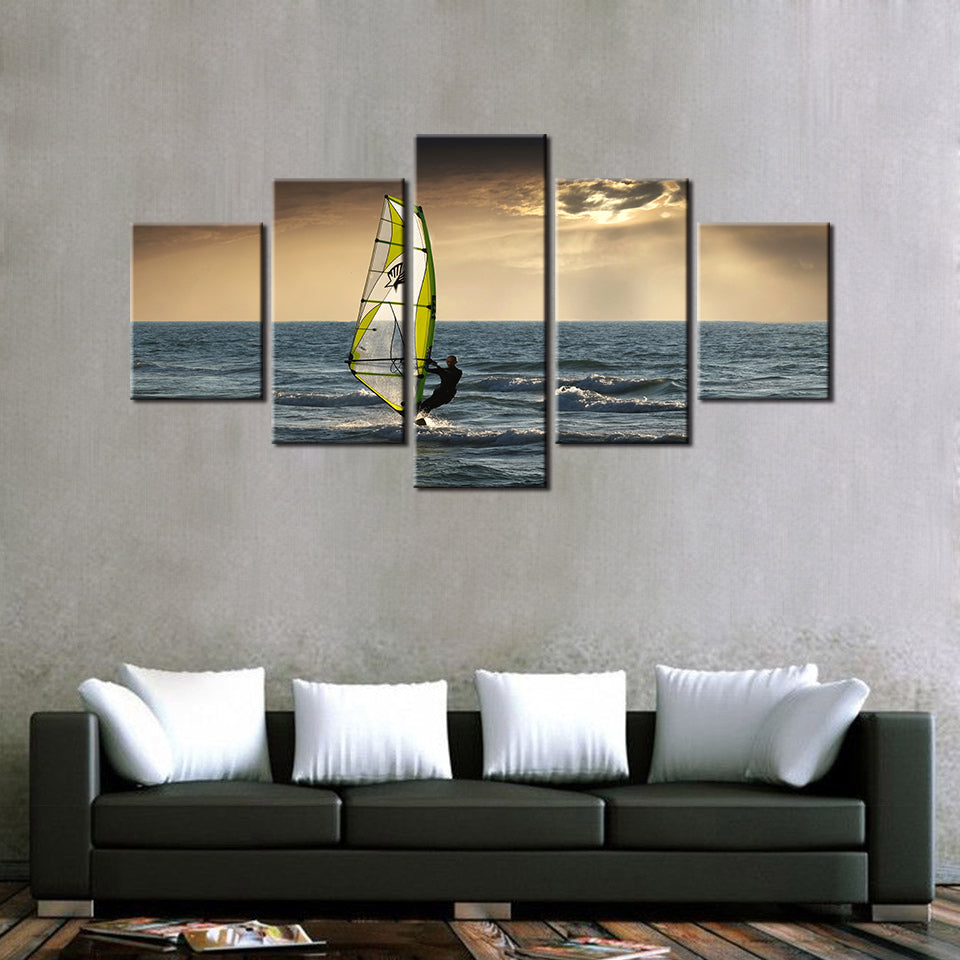 Windsurfing 5 Pcs Wall Art Set