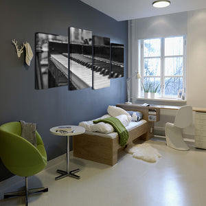 Piano Keys Canvas 4 Pcs Wall Art