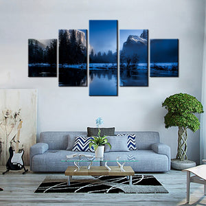 Beautiful Lake Canvas Set