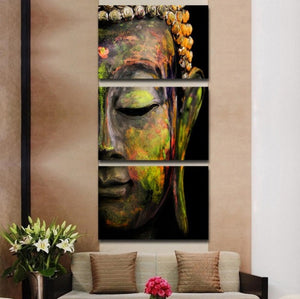 Artistic Buddha 3 Pcs Canvas Set