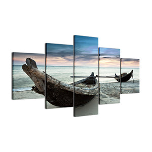 Boats Of The Ocean Canvas 5 Pcs Wall Art