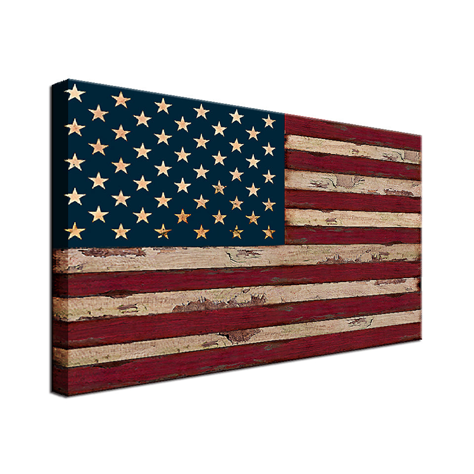 U.S.A Flag Single Canvas