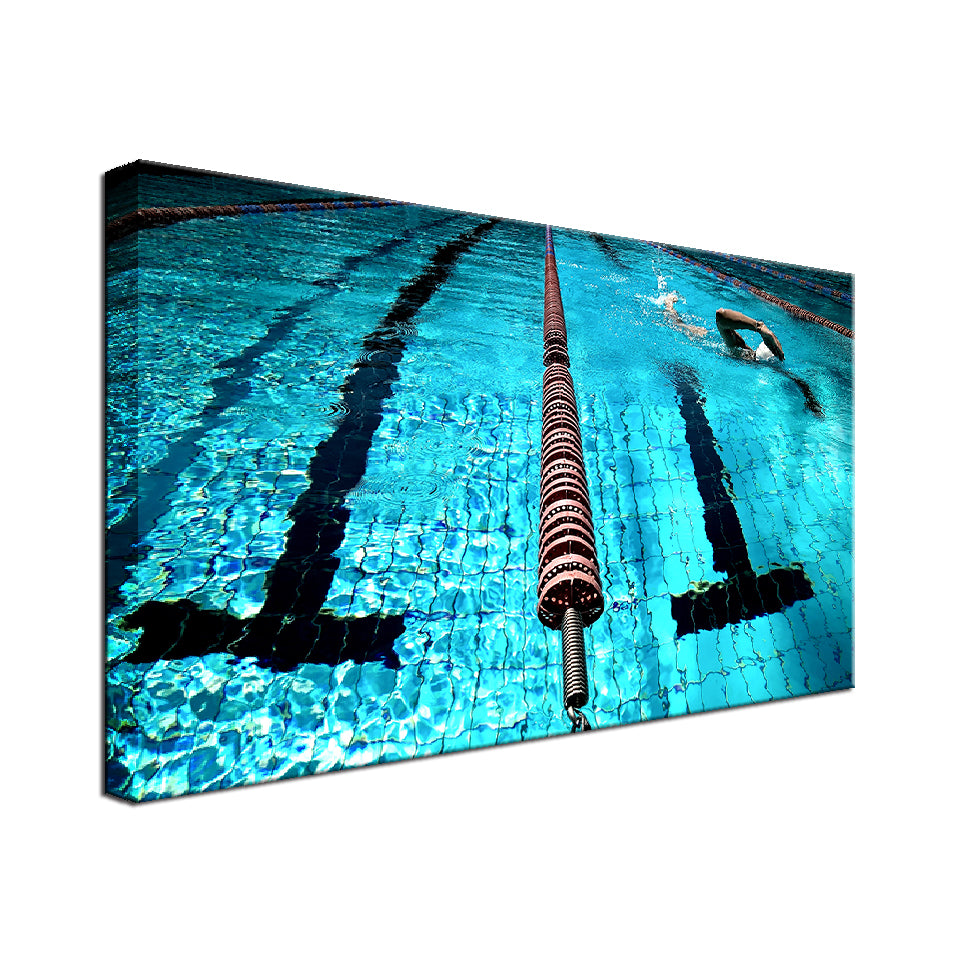 Swimming is all about good times Single Canvas