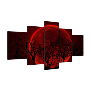 Red Moon 5 Pcs Canvas Set