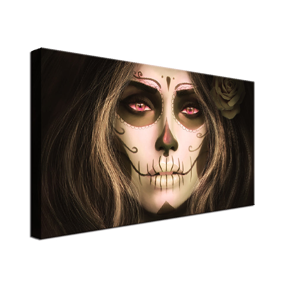 Lady Skull Single Canvas