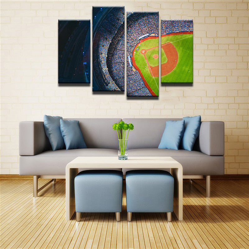Baseball Stadium 4 Pcs Canvas Set