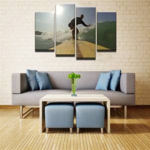 It's All About The Right Wave Canvas 4 Pcs Wall Art