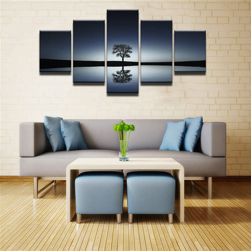 Lonely Tree Canvas 5 Pcs Set