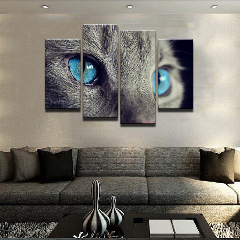 Blue Eyed Cat 4 Pcs Set