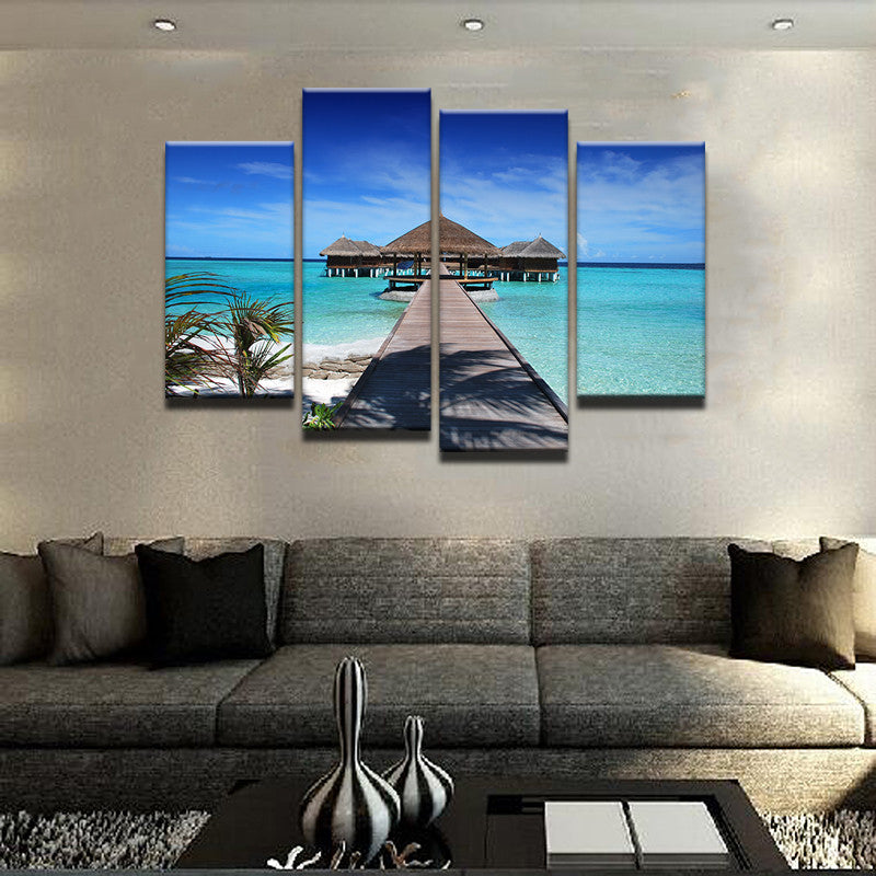Maldives Islands 4 Pcs Canvas Set