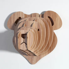 Wooden 3D Wall Hanging - Teddy Bear Style