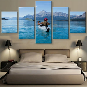 Kayaking Canvas 5 Pcs Wall Art
