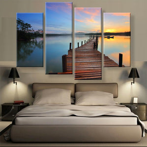 The Pier Canvas 4 Pcs Wall Art