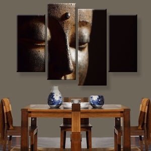 Buddha Canvas 4 Pcs Set