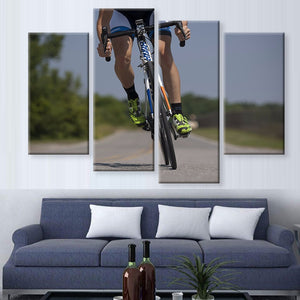 Keep Calm and Bike On Canvas 4 Pcs Wall Art