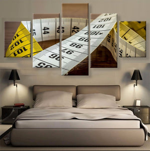 Measurement Tape Canvas 5 Pcs Wall Art